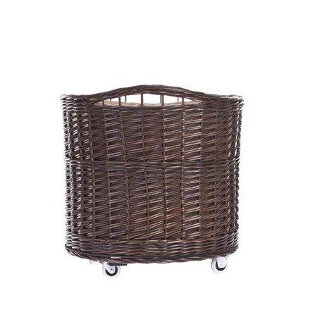 Shabby chic wicker storage basket