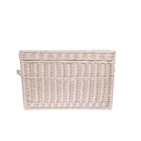 White wash shabby chic wicker storage basket