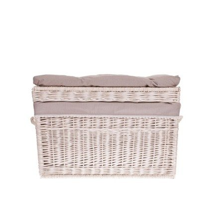 White wash shabby chic wicker storage basket