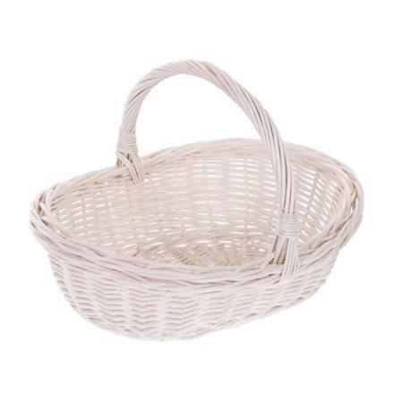 Whitewash gift wicker basket