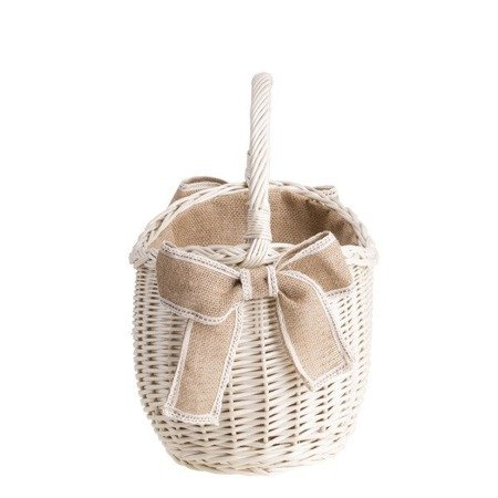 Wicker retro shopping baske