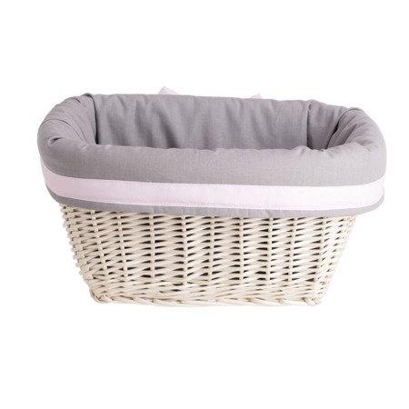 Wicker storage basket