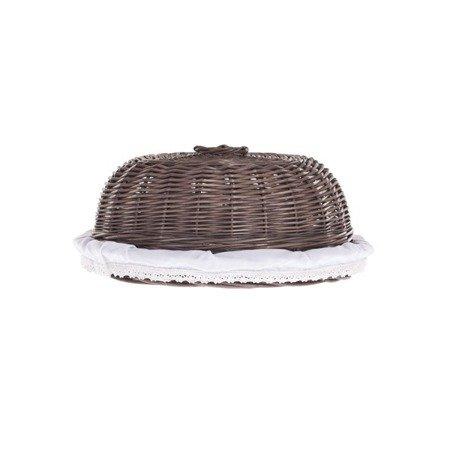 Wicker tray for food storage