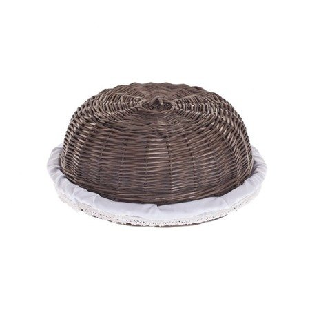 Wicker tray for food storage