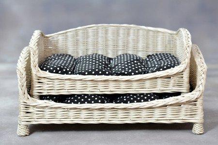 Rechteckiger Hundekorb / Katzenkorb aus Weide