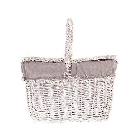 Wiklinowy kosz piknikowy - wybielany