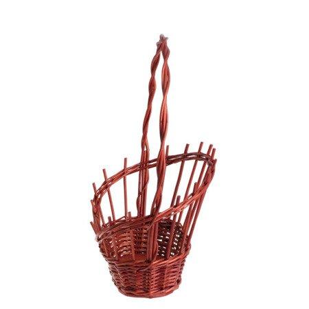 Wiklinowy kosz prezentowy czerwony